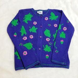 Lilly Pulitzer|Vintage Purple Floral Cardigan